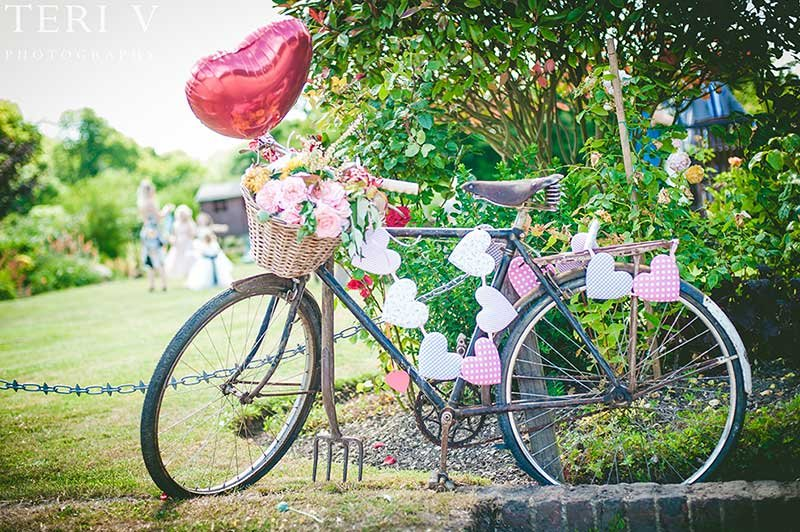 wedding bicycle styling